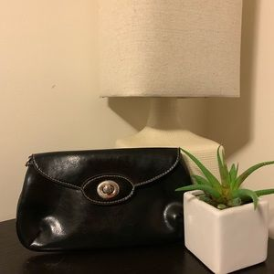 Handbags - Small black patent leather clutch